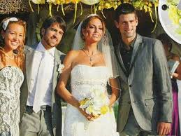 djokovic wedding murray best man. hd wallpaper and background photos of djokovic wedding for fans novak images. murray best man o