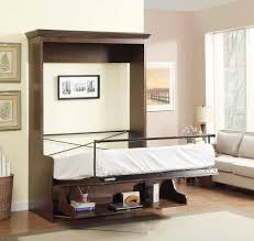 Absolutely Smart Wall Bed Desk Natanielle Full Murphy With And 2 Storage  Cabinets