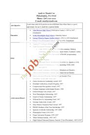 High School Resumes High School Resume Template No Job Experience Krida 89