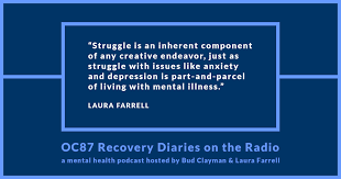 podcast episode art and mental health can they co exist or  related mental health > art an essay by laura farrell