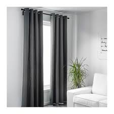 Gray and beige curtains Grommet Ikea Merete Curtains Pair 57x98
