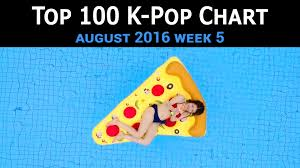 Top 100 K Pop Songs Chart August 2016 Week 5 Dj Digital