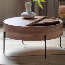 risbeto round wooden storage coffee