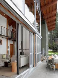 valances for sliding glass doors exterior contemporary with angled roof concrete pavers