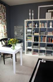 simple ikea home office. Love The Paint Color Trout Gray By Benjamin Moore For A Home Office Simple Ikea S