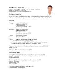 Sample Resume For Filipino Teacher Resume Ixiplay Free Resume Samples