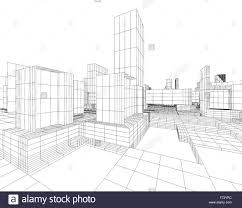 architecture blueprints 3d. 3d Image Of City Blueprint With Skyscraper And Street - Stock Architecture Blueprints D