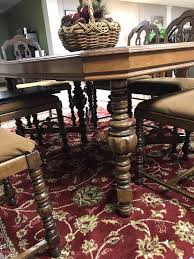 6 dining room chairs ebay reaser furniture gettysburg pa walnut dining set table 6 chairs of