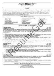 Plumber Resume Examples 2019 Resumeget Com