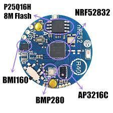 Bluetooth 5 BLE 4.0 NRF52832_SENSOR_R40 Gia Tốc Con Quay Hồi Chuyển Ánh  Sáng Môi Trường Xung Quanh Cảm Biến Trên Tàu BMI160 AP3216C BMP280 8M  Flash|Home Automation Modules