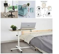 Over bed desk Stylish Image Is Loading Rollinglaptoptablewtiltingtabletopoverbeddesk Ebay Rolling Laptop Table W Tilting Tabletop Overbed Desk Tv Food Tray