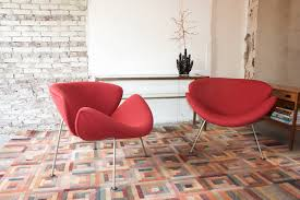 set of artifort orange slice chairs first edition designed by pierre paulin in 1960