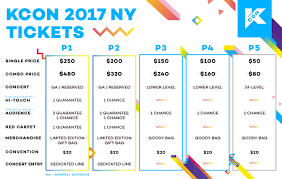 Kcon Seating Chart 2018 Kcon17ny Ticket Information Kcon Usa Official Site