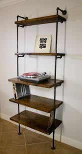 record storage furniture. exellent storage industrial vinyl record storage shelf unit  modern bookcase with turntable  stand shelving furniture lp storage shelves for furniture