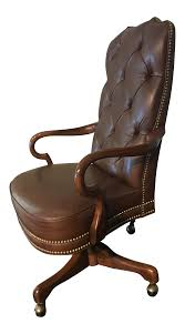 Deep Tufted Glove Leather Studded High Back Office Chair Deep Office Chairs