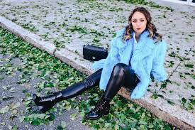 faux fur coat street style fashion new york 2017 winter outfit dvf leather pants zara