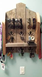 key holder key rack and sunglass holder with shelf entry way organizer keep your things handy and organized made with reclaimed wood