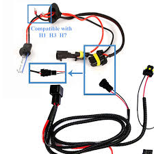 1 set h1 h3 h7 h11 9005 9006 hb4 hid conversion kit relay wire 1 set h1 h3 h7 h11 9005 9006 hb4 hid conversion kit relay wire harness adapter