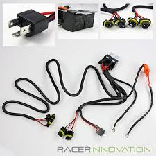h4 9003 hid conversion kit dual relay wiring harness bi xenon hi low dual wiring harness image is loading h4 9003 hid conversion kit dual relay wiring