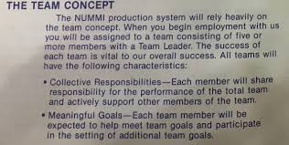 part 2 more from the original 1984 nummi team member handbook post continues after ad a team leader