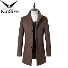 2018 new arrivals autumn winter trench coat men brand clothing cool mens long wool coat top