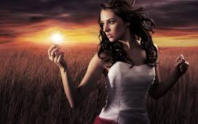 Have You Got A Light Woman Holding A Light Bulb Cast44