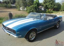 Chevy Camaro Convertible RS/SS BIG BLOCK 4 Speed Marina Blue 1968 1969