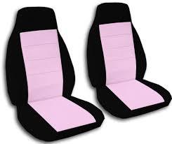 black cute pink car seat covers