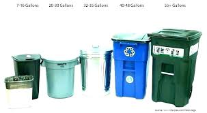 Trash Cans Trash Can Sizes Standard Bag Kitchen Size Bags