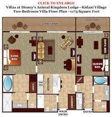Nice Two Bedroom At Kidani Village At Animal Kingdom Lodge. Two Bedroom Villas  Are Either Combined From A Studio And A One Bedroom Villa (u201clockoffsu201d) Or  Are ...
