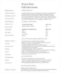 Call Center Resume Sample For Centers Template Word Centre