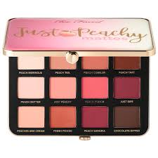 just peachy velvet matte eyeshadow palette peaches and cream collection too faced sephora