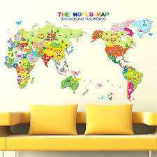 world wall decal 7 x 4 ft world map decal large world map vinyl wall with wall decal world prepare