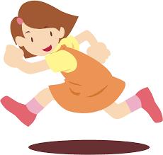 Girl running - Openclipart