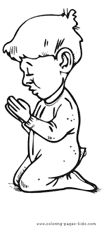 Praying Color Page Coloring Pages For Kids Religious Coloring