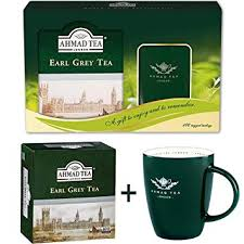ahmad tea gift set 100 tea bags ceramic mug earl grey