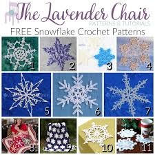 Crochet Snowflake Pattern Awesome Dainty And FREE Snowflake Crochet Patterns The Lavender Chair