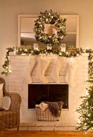 Amazing Fireplace Christmas Decoration Decorations Ideas Pictures Uk Images