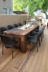 outdoor wood table images