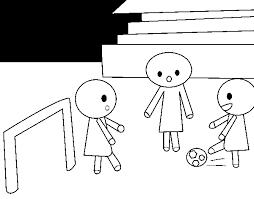 Disegno Di Bambini Che Giocano A Calcio Da Colorare Acolorecom
