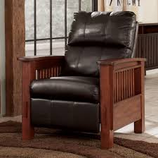 Mission Style Living Room Chair Santa Fe Chocolate High Leg Recliner By Signature Design