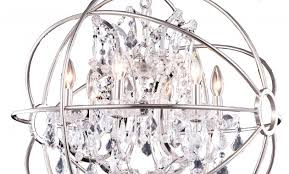 unique foucault s orb crystal iron 6 light chandelier modern chandeliers