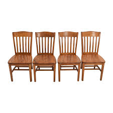 second hand wooden chairs for sale. buy four brown slat back wood chairs second hand wooden for sale furnishare