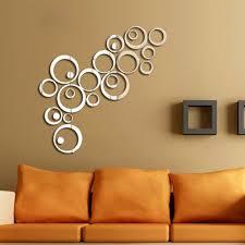 capricious circle wall decor decoration ideas naveed arts 3d acrylic mirror d cor stickers for