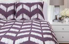 full size of bed reversible purple set laude ombre complete chevron bedding and black white
