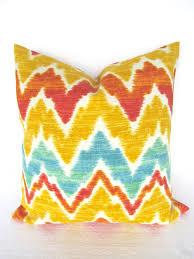 ORANGE OUTDOOR Pillows Yellow Chevron Throw Pillow Covers