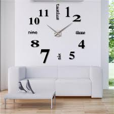 diy creative wall clock sticker