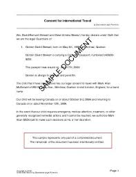 Trip Consent Form Template Zakly Info