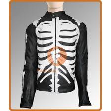 men s skeleton sketch black motorcycle jacket skeleton black biker leather jacket