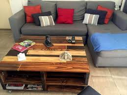 reclaimed pallet coffee table with lift top